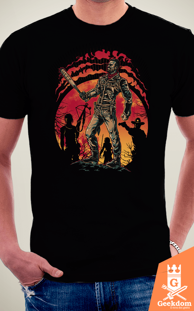Camiseta The Walking Dead - Caça ao Negan - by RicoMambo | Geekdom Store | www.geekdomstore.com