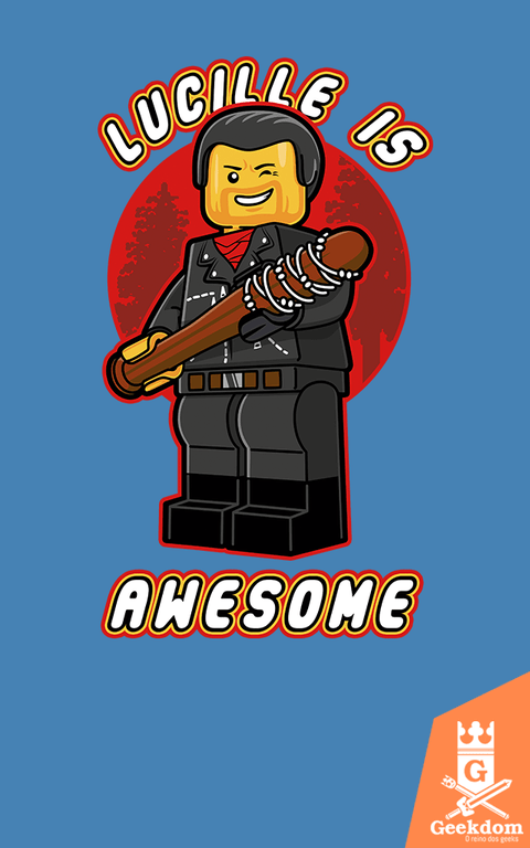 Camiseta The Walking Dead - Lucille é Lego - by Olipop