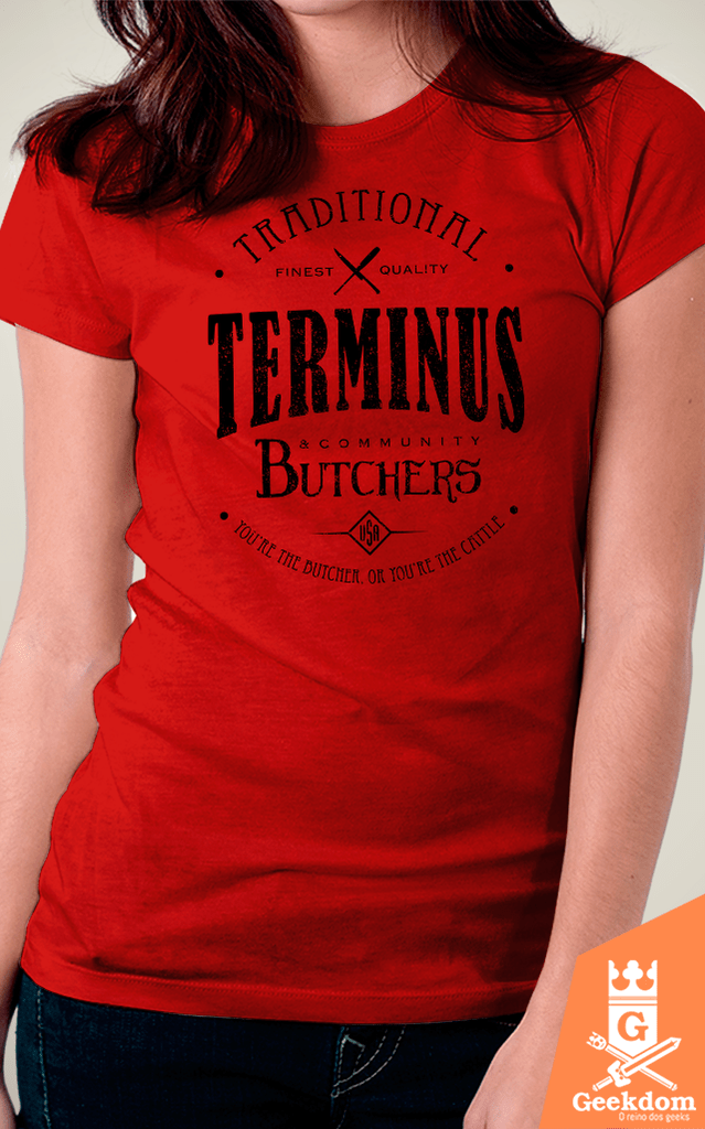 Camiseta The Walking Dead - Terminus Butchers - by Olipop - Geekdom Store - Camisetas Geek Nerd