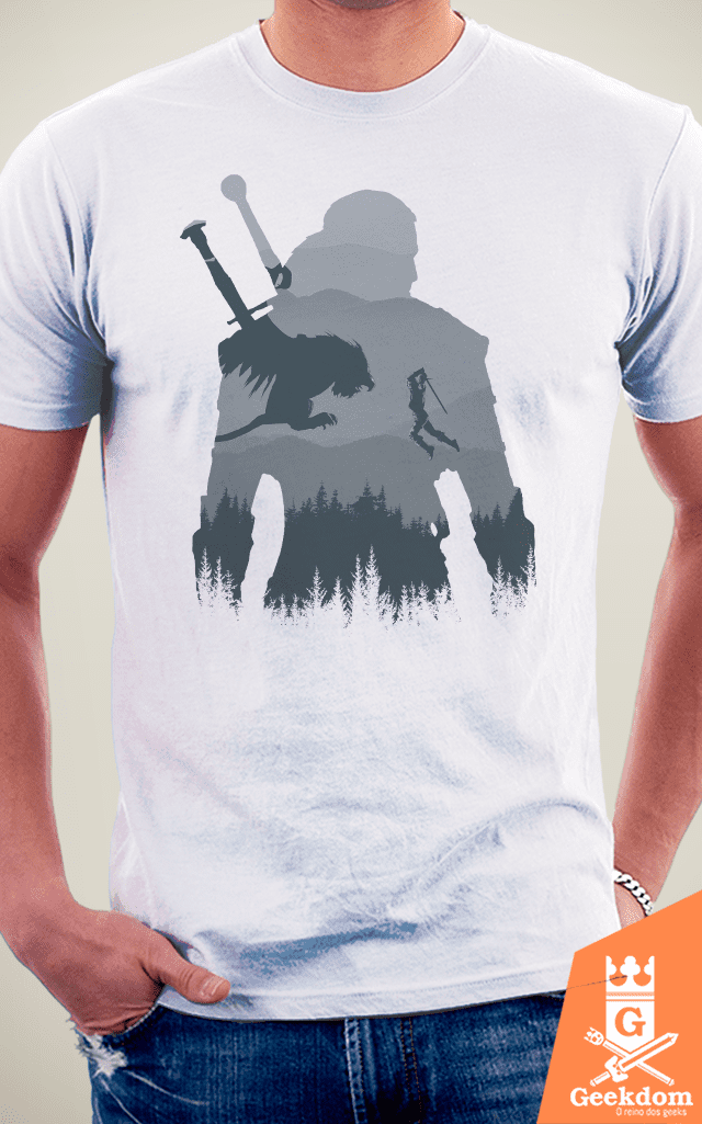 Camiseta The Witcher - Silhueta Selvagem - by Ddjvigo | Geekdom Store | www.geekdomstore.com