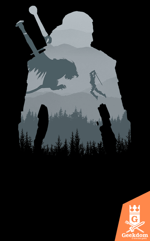 Camiseta The Witcher - Silhueta Selvagem - by Ddjvigo