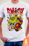 Camiseta Vingadores - Hulk Smash Iron Man - by Cardosonot na internet