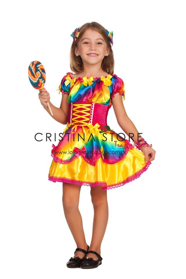 Vestido Íris - Festa Junina Caipira Chic INFANTIL 238fd33fb48