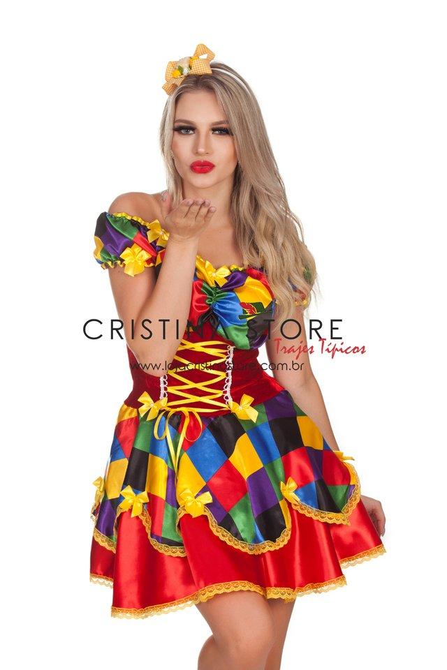 Vestido Aurora - Festa Junina Caipira Chic 45d56273bc5