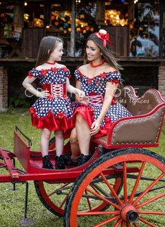 Vestido Lily Tal Mãe Tal Filha Festa Junina Caipira Chic