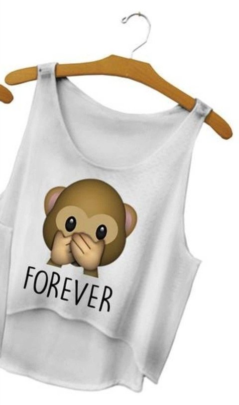 Top cropped - Emoji Macaco Forever