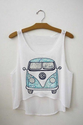Top cropped - Kombi Hippie 01