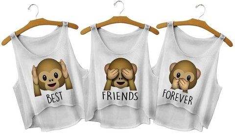 Top cropped - Emoji Macaco Friends - comprar online