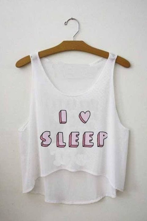 Top cropped - I Love Sleep