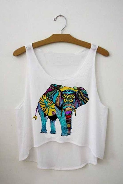 Top cropped - Elefante Tribal