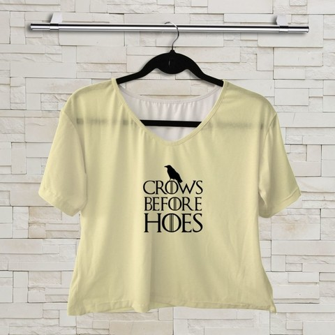 T shirt - Game Of Thrones - Crows Before Hoes 01