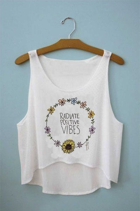 Top cropped -  Radiate positive vibes