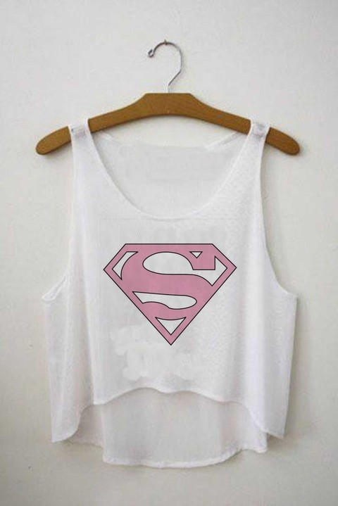 Top cropped - Logo Superman Rosa