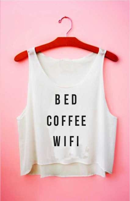 Top cropped - Bed Coffee Wifi