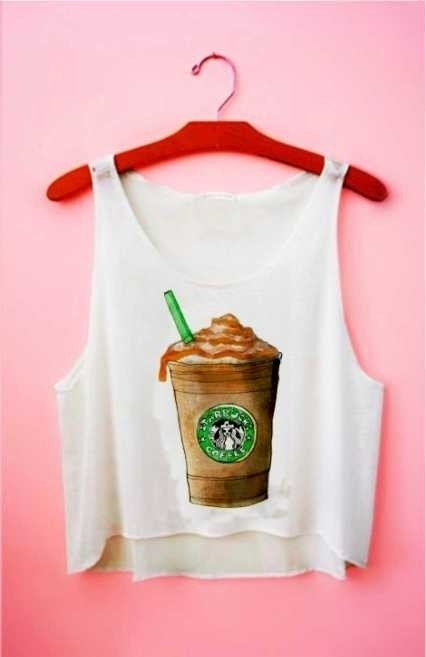 Top cropped - Frappuccino Starbucks Caramelo