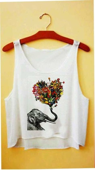 Top cropped - Elefante Hippie
