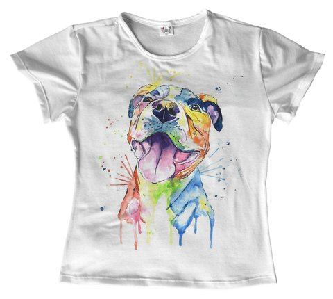 T shirt - animais - Pitbull dog 07 na internet