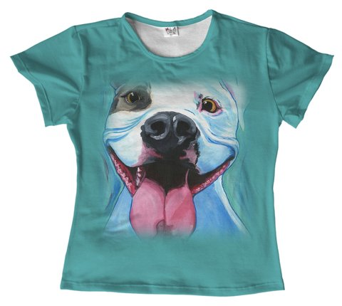 T shirt - animais - Pitbull dog 08 na internet