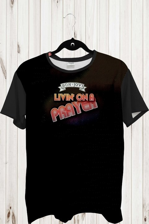 Tee Max - Bandas - Bon Jovi Living in a Prayer