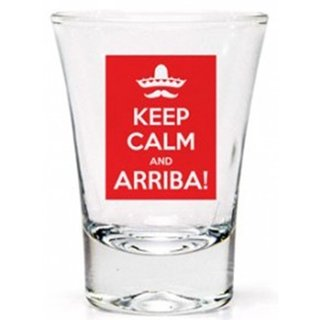 Copo Shot Keep Calm and Arriba