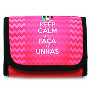 Necessaire Porta Esmaltes Keep Calm and Faça as Unhas
