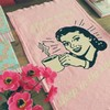 Pano de Prato Pin-Up Breakfast | Rosa - comprar online