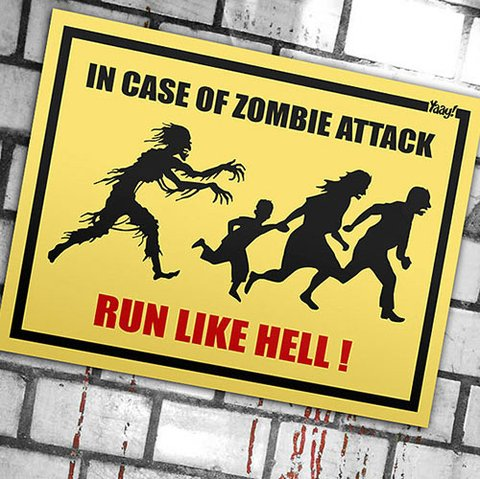 Placa Criativa In Case Of Zombie Attack - comprar online