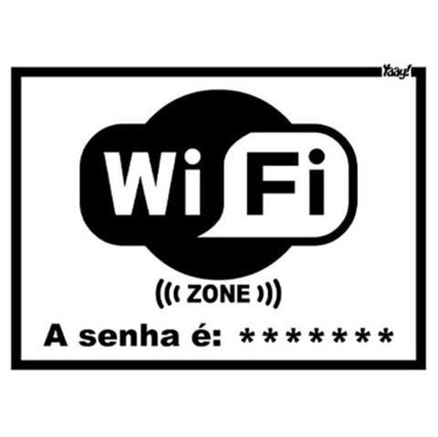 Placa Criativa Wi-Fi Zone