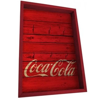 Porta Chaves Coca Cola Wood Style