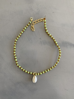 Choker Green & Brown Caracol