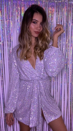 Imagen de Mini Sequin Silver dress