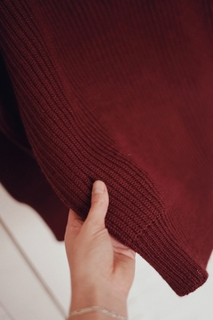 Sweater aleli bordeaux en internet