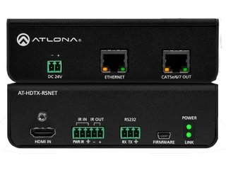 Kit Extensor HDMI Atlona AT-HD-RSNET. Com IR, RS232 e Ethernet