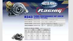 Turbo Master Power Racing R343/1 (70 - 120 HP) Competición