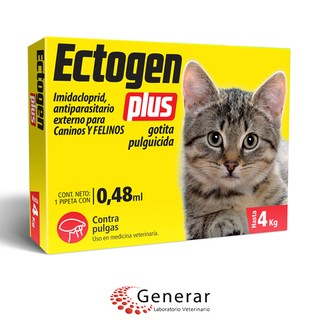 Pipeta Antipulgas y Garrapatas - Gatos hasta 4 kg - ECTOGEN PLUS