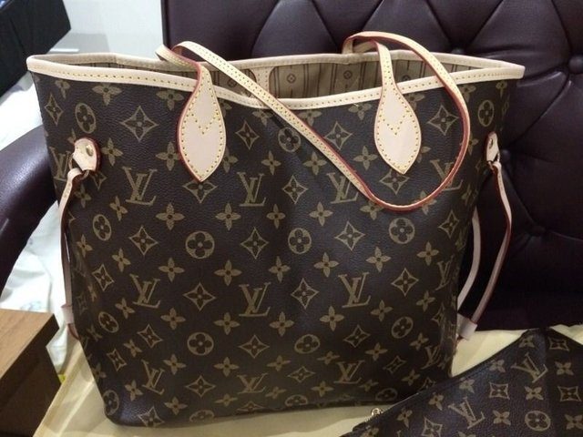 Bolsa Louis vuitton neverfull monograma couro na internet