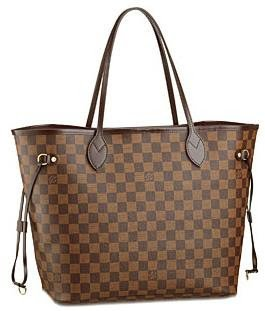 Bolsa Louis vuitton neverfull damier couro Mm