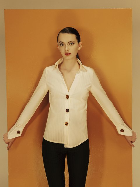 SAMANIEGO Mirelle Shirt Natural - buy online