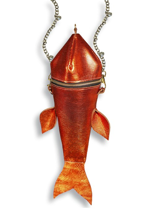 NIPPER Cartera Pescado Gold