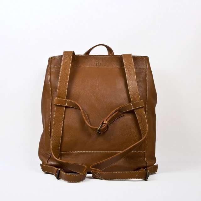 Leather Backpack S Chestnut on internet
