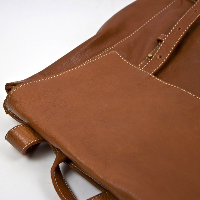 Leather Backpack S Chestnut - COLECCION ZERO