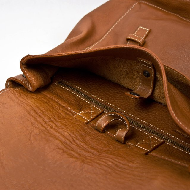 Leather Backpack S Chestnut - online store