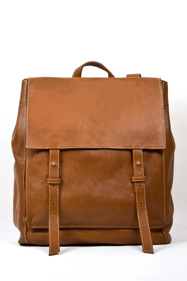 Leather Backpack S Chestnut