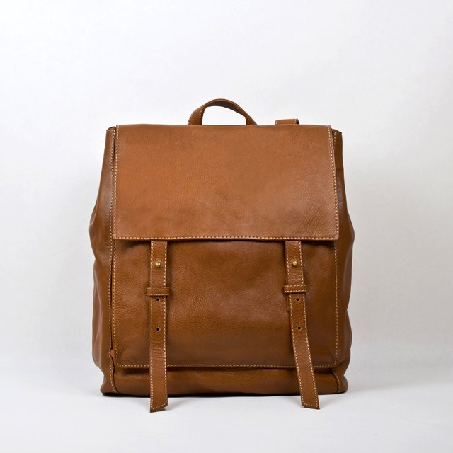 Image of Leather Backpack S Chestnut