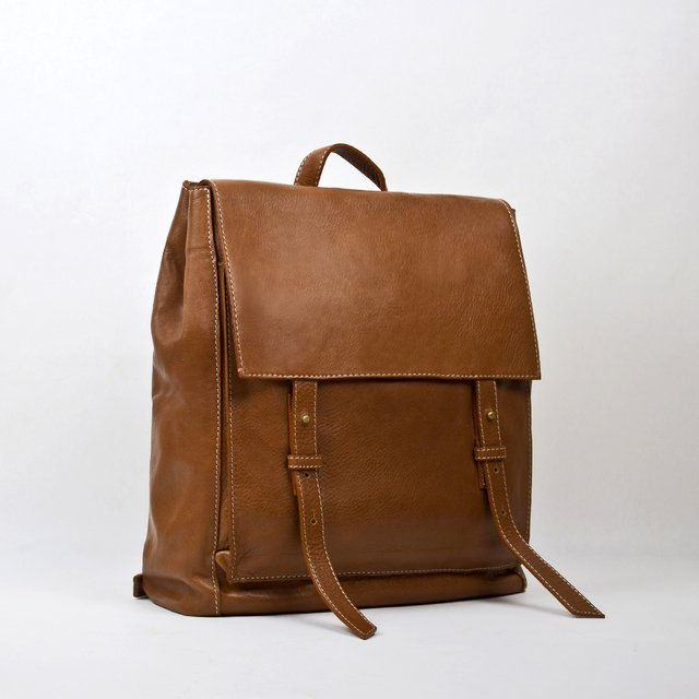 Leather Backpack S Chestnut - buy online