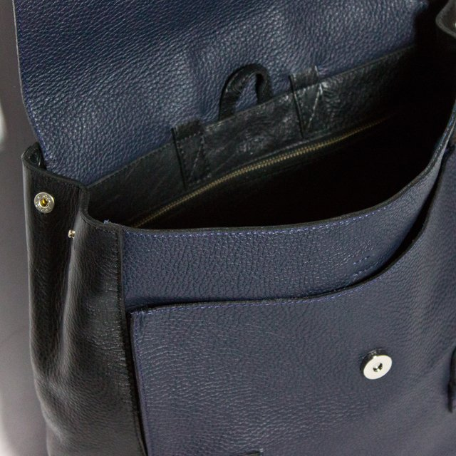 LE BAS Backpack S Navy & Black - COLECCION ZERO