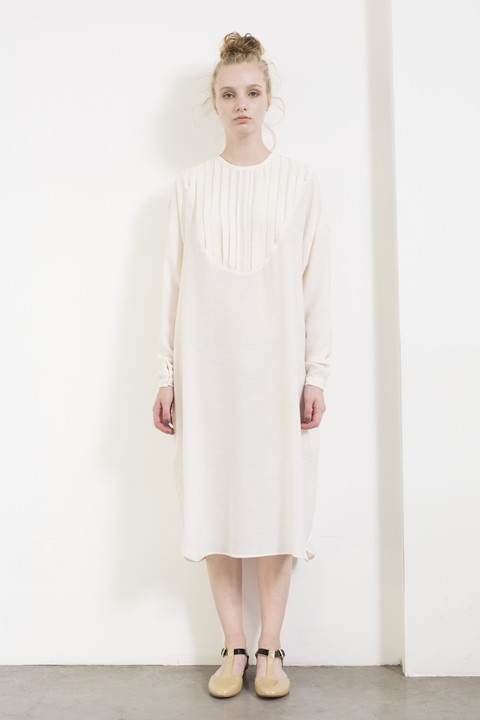 Ivory shirt dress by Dandelion & Birdock. Made in Argentina.