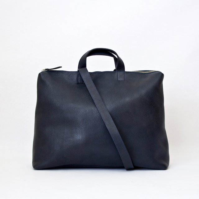 Leather Satchel S Navy - buy online