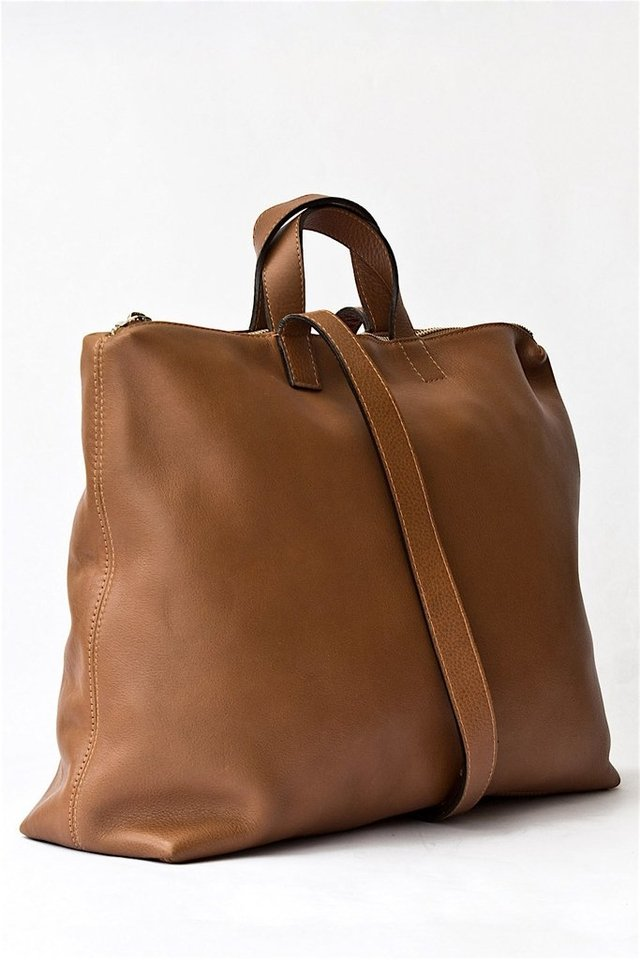 Leather Satchel S Chestnut