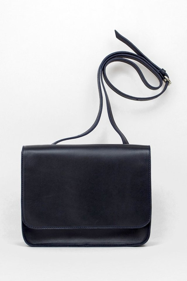 Leather Shoulder S1 Navy